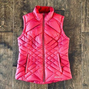 Red Slim Puffer Vest - Size Small